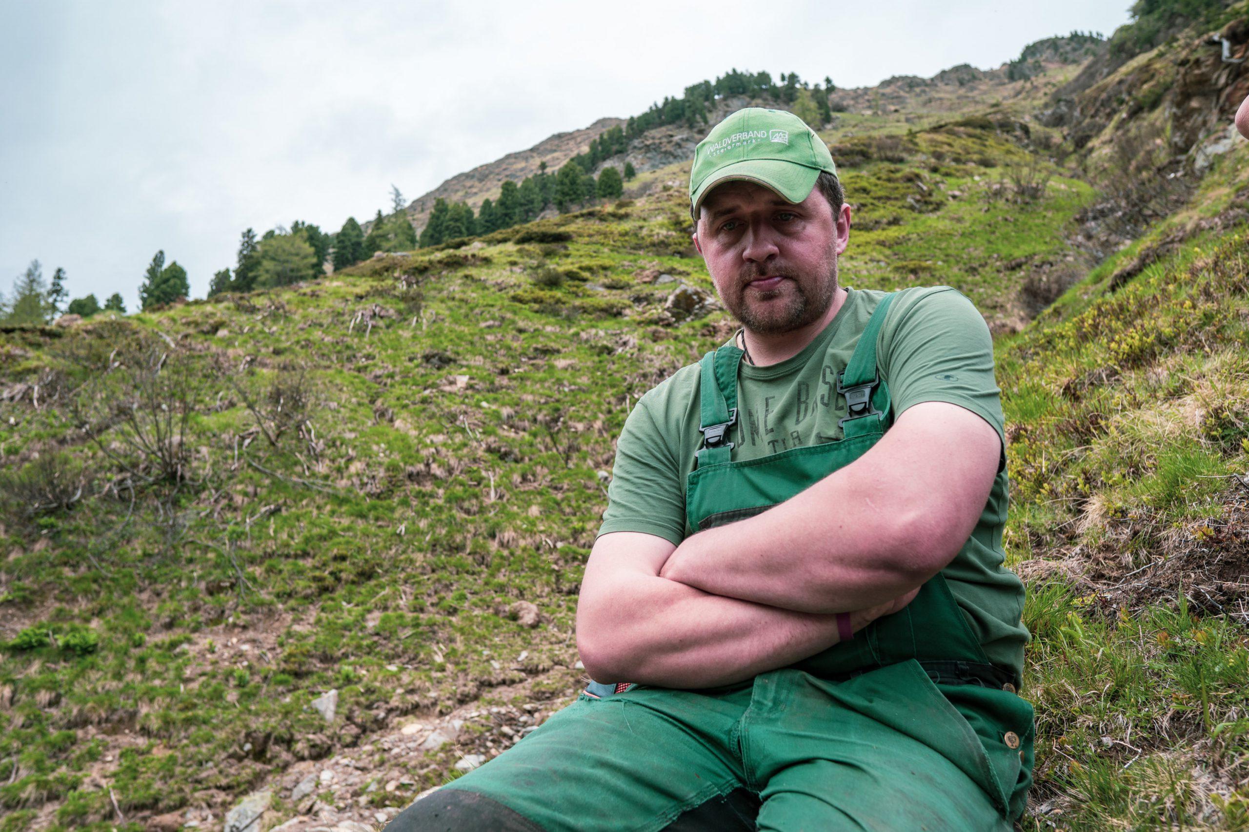 Bergbauer Christian Bachler auf der Alm