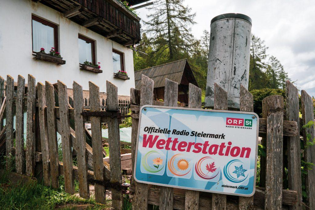"""Plakette """"Offizielle Radio Steiermark Wetterstation"""""""