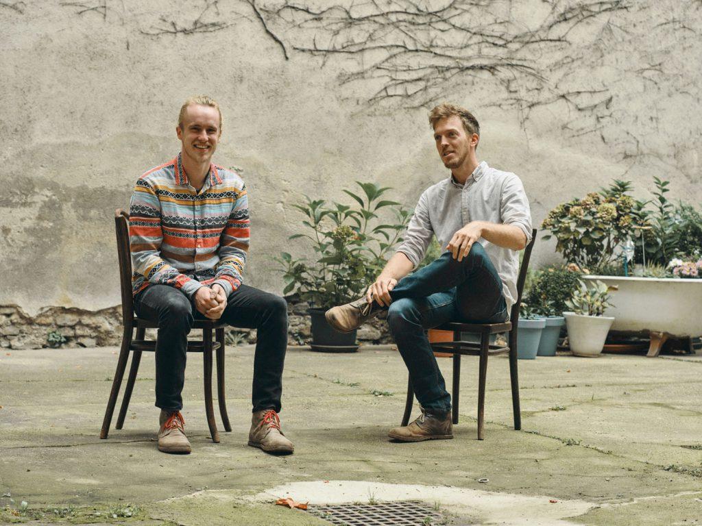Gregor Franz Krenker & Stefan Schauhuber sitzend